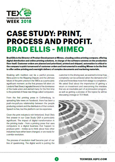 CASE STUDY: PRINT, PROCESS AND PROFIT.