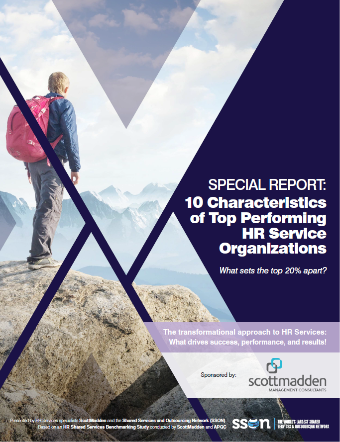 SPECIAL REPORT: 10 Characteristics of Top Performing HR Service Organizations