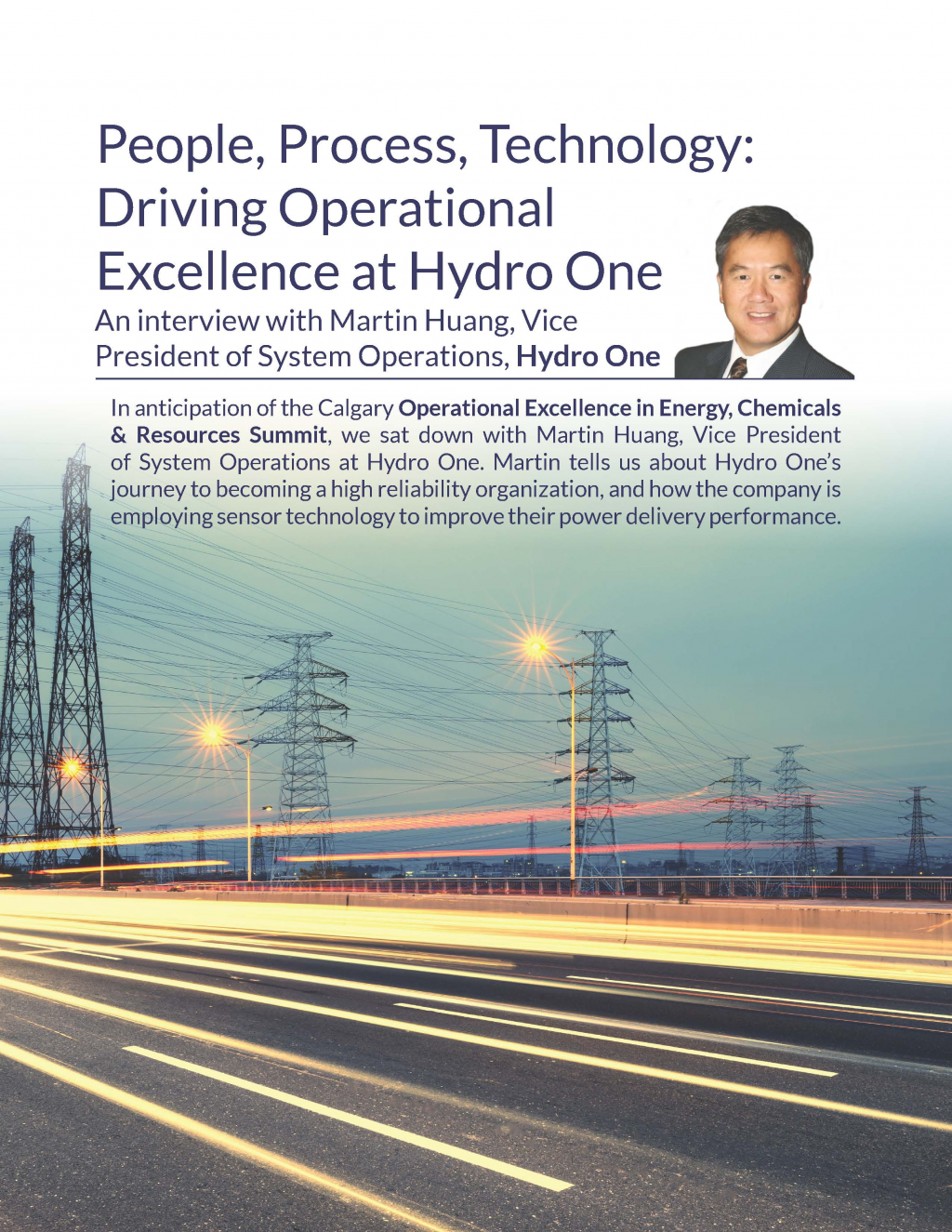 People, Process, Technology: Driving Operational Excellence at Hydro One