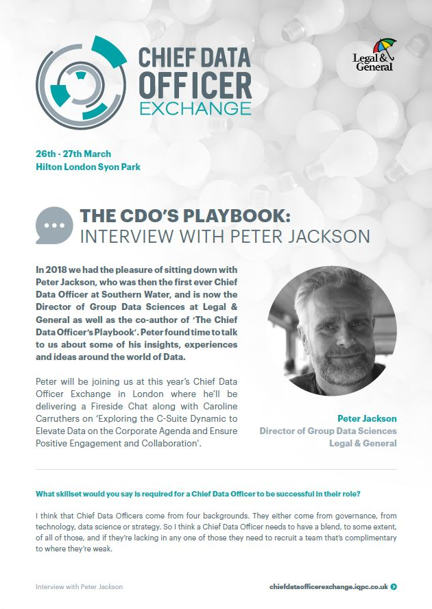 The CDO's Playbook: Interview with Peter Jackson 2020