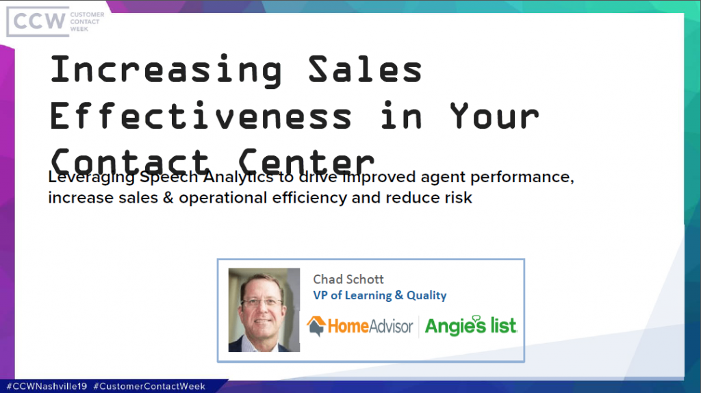 Increasing Sales Effectiveness in Your Contact Center