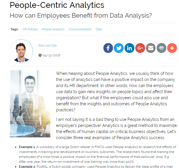 People-Centric Analytics