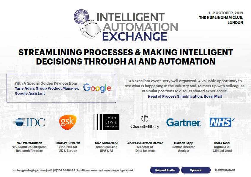 2019 Agenda: Intelligent Automation Exchange UK