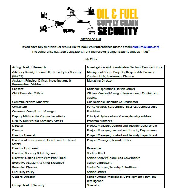Oil & Fuel Supply Chain Security » Featured Content