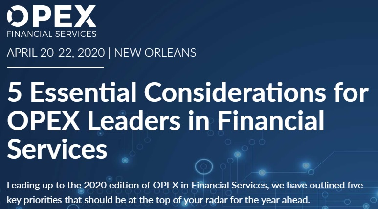 5 Essential Considerations for OPEX Leaders in Financial Services
