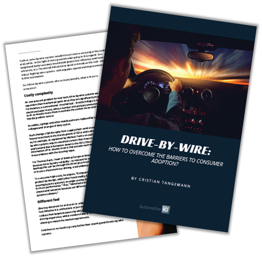 Automotive IQ Report on Drive-by-Wire: Overcoming the Barriers to Consumer Adoption