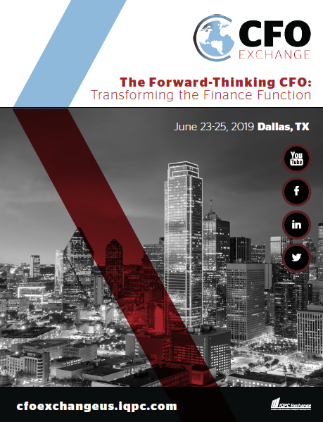 Download the June 2019 CFO Exchange agenda for info on speakers, sessions, and more!