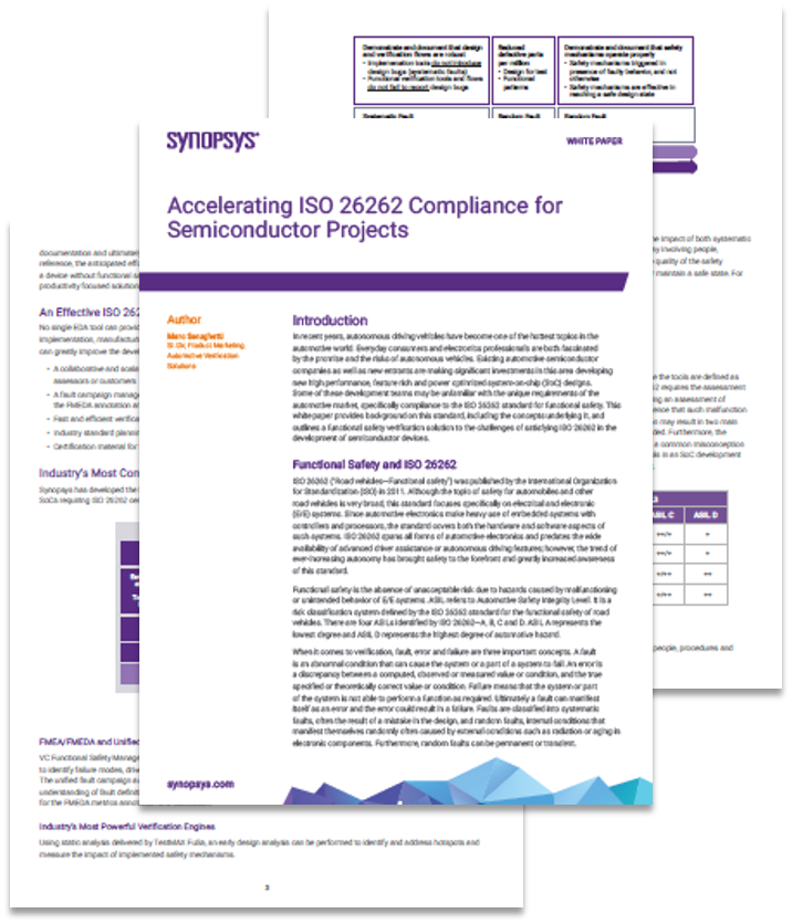 Whitepaper on Accelerating ISO 26262 Compliance for Semiconductor Projects