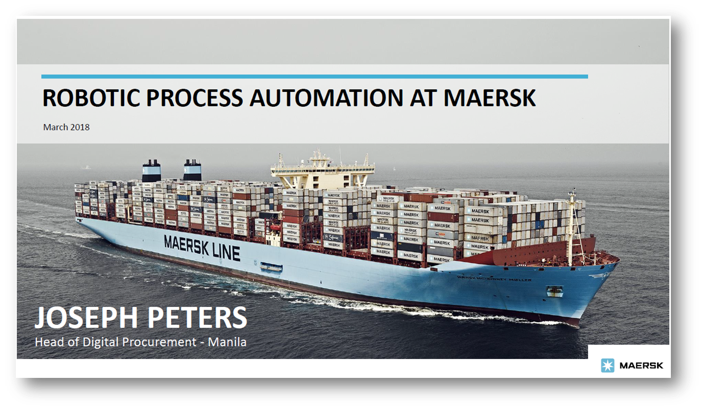 Robotic Process Automation at Maersk