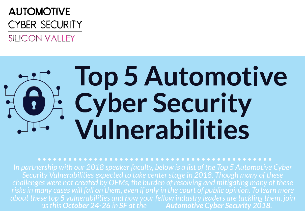 Automotive Cyber Security Silicon Valley - Top 5 Automotive Cyber Security Vulnerabilities
