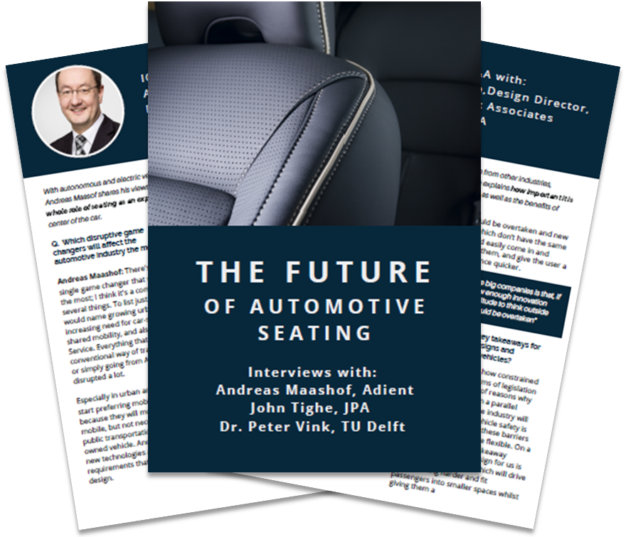 Interview with Adient, JPA and TU Delft on cross industry trends influencing customer's seating experience