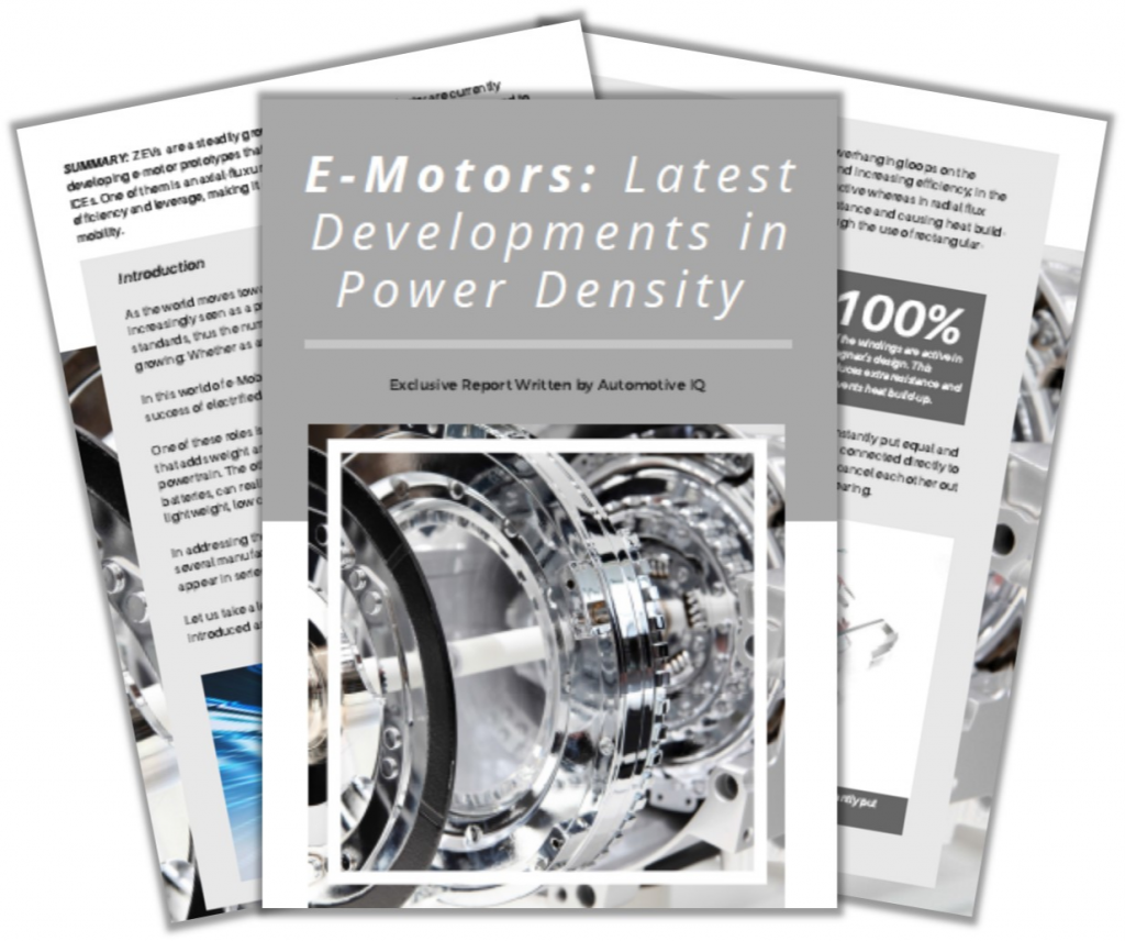 Report on E-Motors: Latest Developments in Power Density