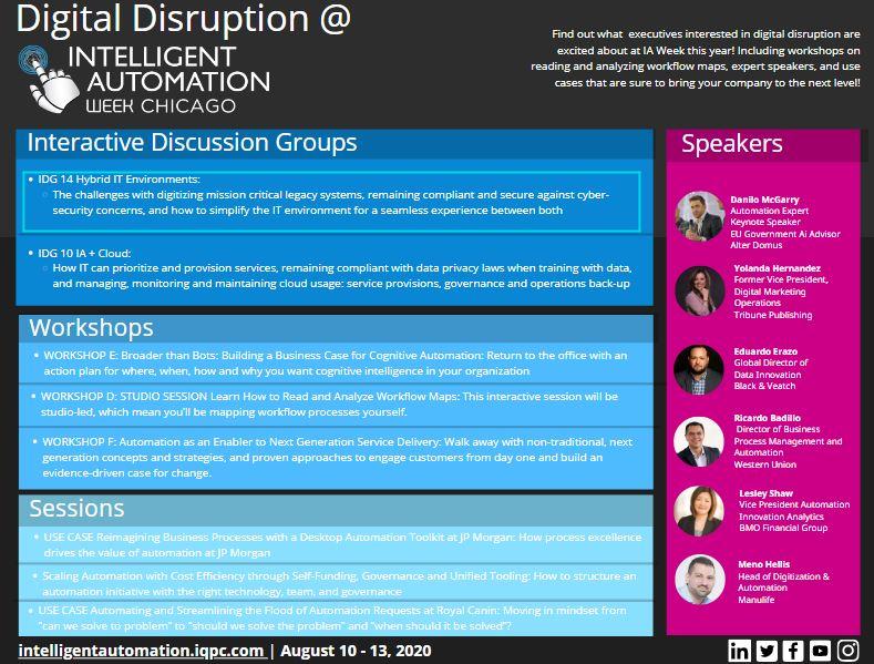 Digital Disruption at Intelligent Automation Week 2020