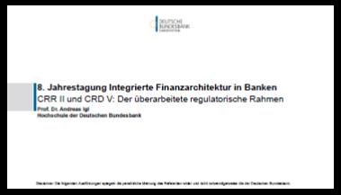 Präsentation: Nutzen von CRR II und CRD V für den Bankensektor