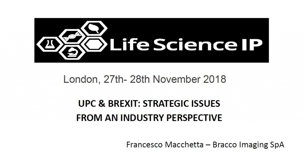 UPC and BREXIT: Strategic issues from an industry perspective