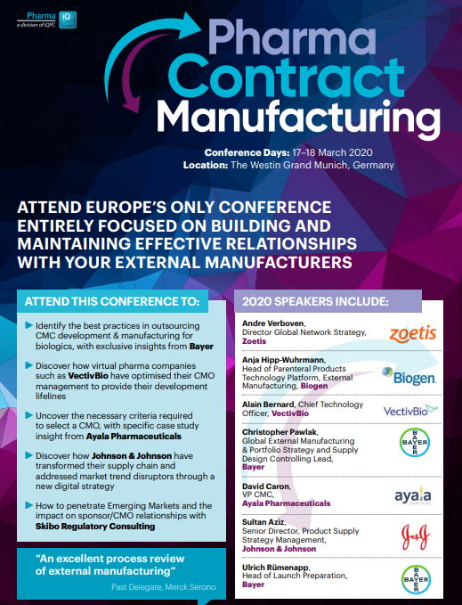 Pharma Contract Manufacturing - Download the programme
