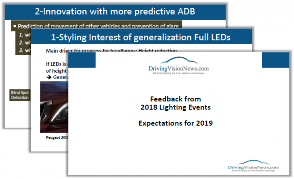 DVN Presentation: Feedback from 2018 Lighting Events - Expectations for 2019