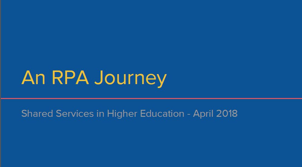 An RPA Journey