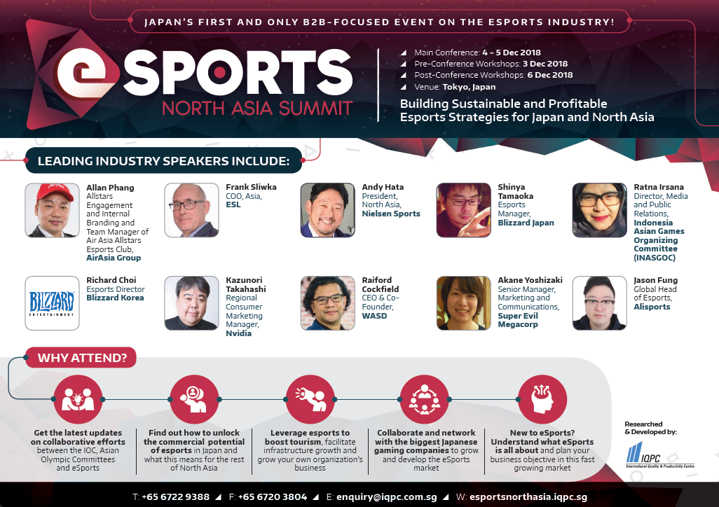 View Agenda - Esports North Asia Summit 2018