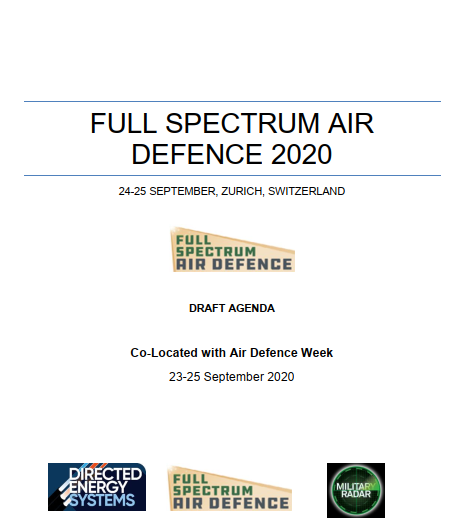 2020 Draft Agenda- Full Spectrum Air Defence International