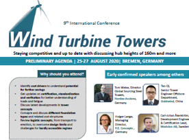 Partner Content: Wind Turbine Towers - Conference Program.  Get the info!
