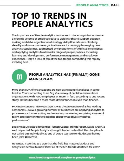 Top 10 Trends in People Analytics