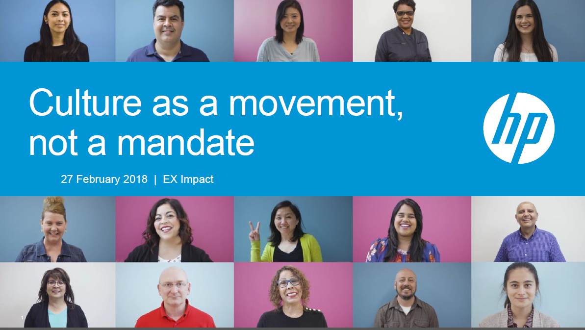 Case Study: How HP Developed It's Culture as a Movement, Not a Mandate