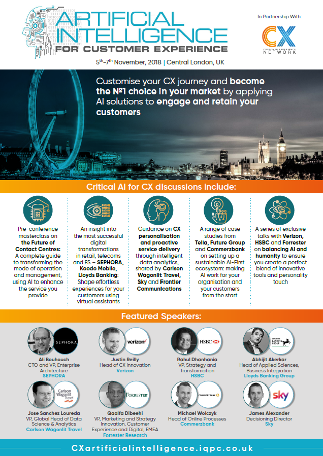 Download the Agenda l Artificial Intelligence for Customer Experience (AI for CX) Forum