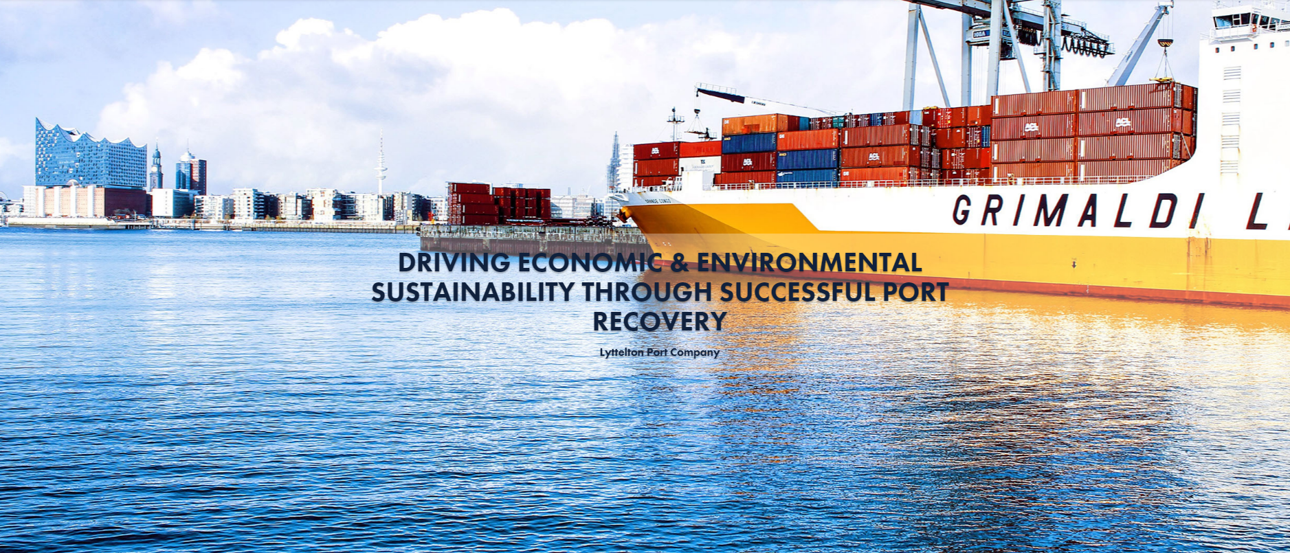Driving Economic & Environmental Sustainability Through Successful Port Recovery