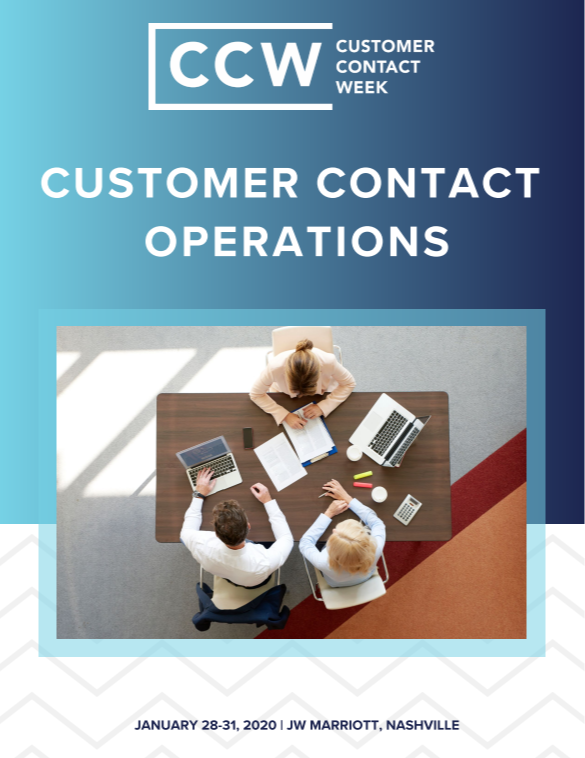 Customer Contact Operations 2020 Guide