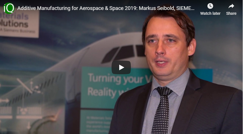 Interview with Markus Seibold, VP Additive Manufacturing at SIEMENS Gas & Power