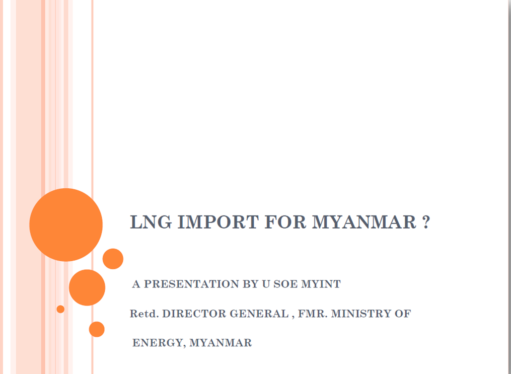 LNG Import for Myanmar