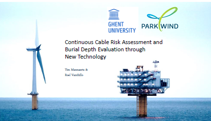 Presentation on Cable Risk Assessment by Ghent University and Parkwind