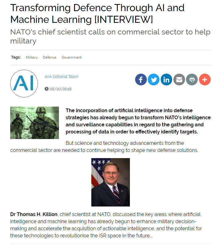 Transforming Defense Through AI & Machine Learning
