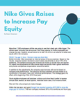 Nike Gives Raises to Increase Pay Equity