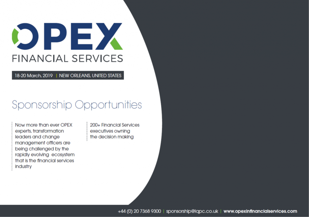 OPEX in Financial Services - Sponsorship info pack