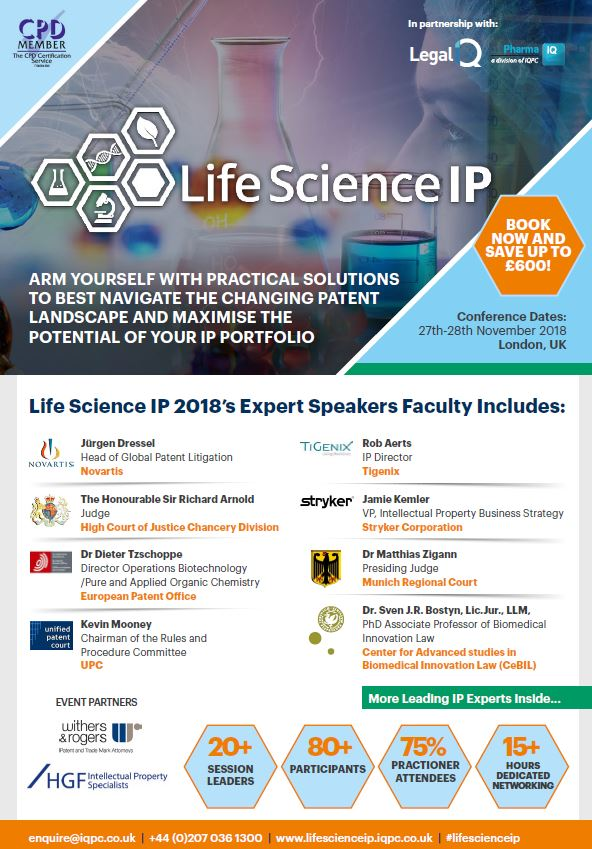 Life Science IP - Download the Agenda - Networking Opportunities