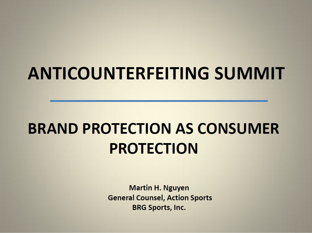 BRAND PROTECTION AS CONSUMER PROTECTION