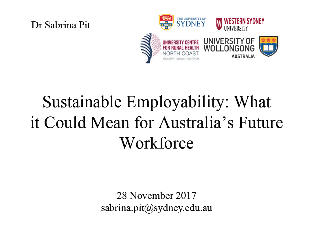 Sustainable Employability: What it Could Mean for Australia's Future Workforce