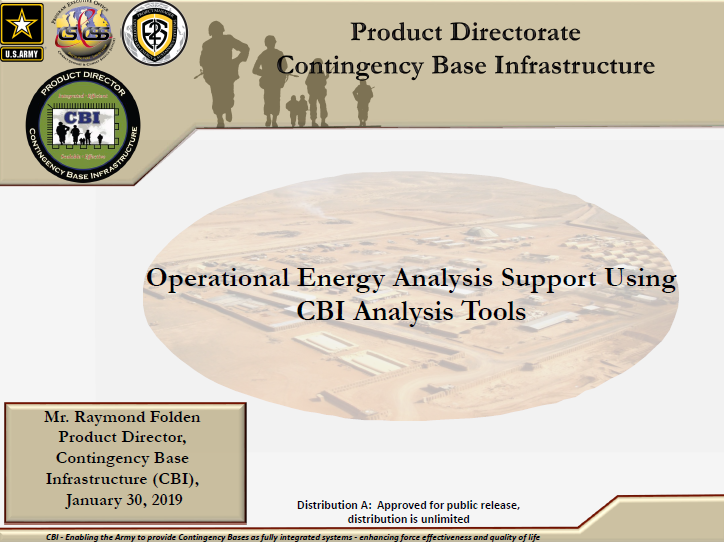 Operational Energy Analysis Support Using CBI Analysis Tools