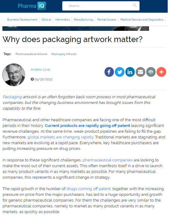 Why does packaging artwork matter?