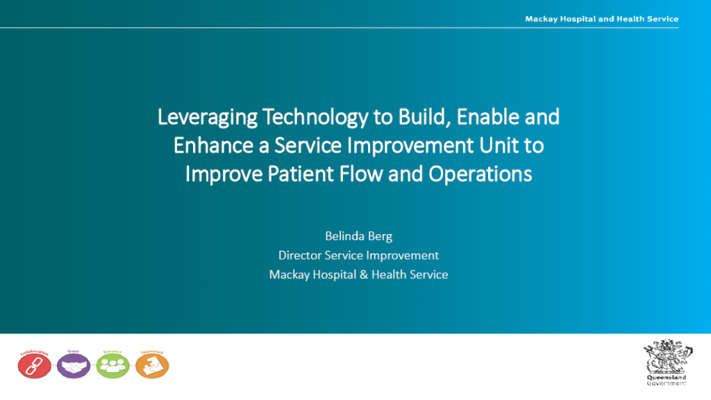 Leveraging Technology to Build, Enable and Enhance a Service Improvement Unit to Improve Patient Flow and Operations