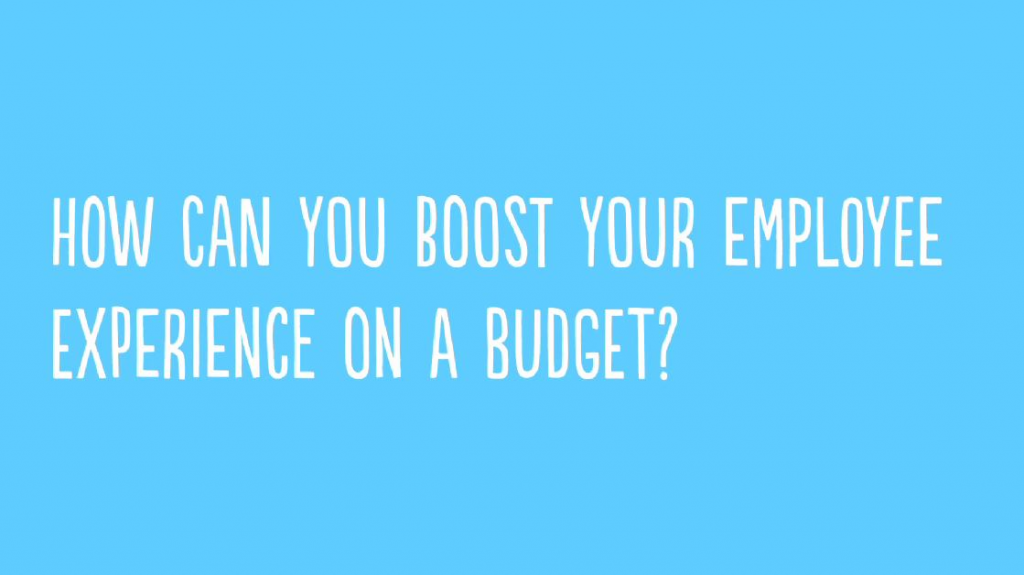 How can you boost your Employee Experience on a budget?