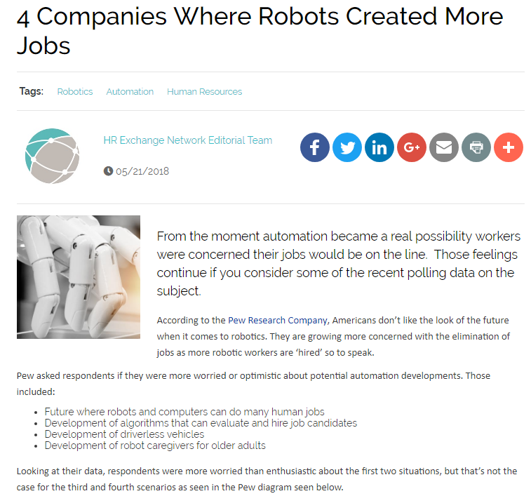 4 Companies Where Robots Created More Jobs