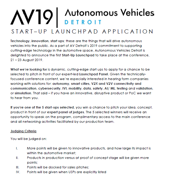 Start-Up Launchpad Application