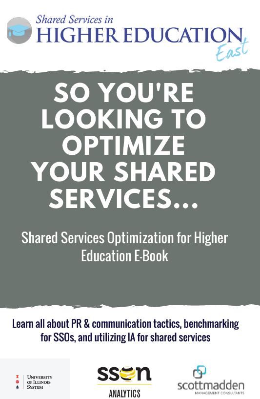 So You're Looking to Optimize Your Shared Services...