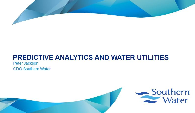 Presentation: Predictive Analytics and Water Utilities