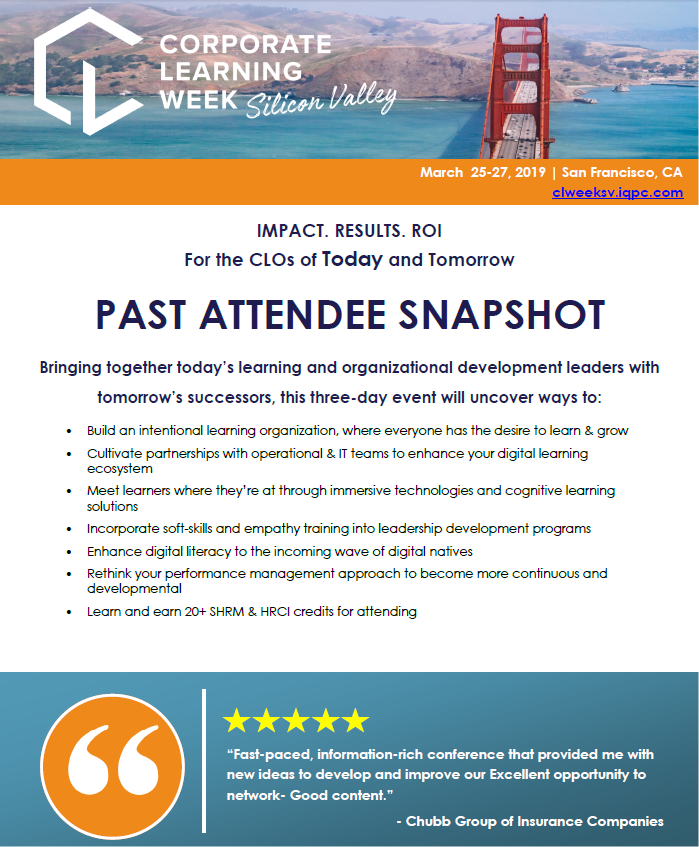 Corporate Learning Week 2019 Past Attendee List