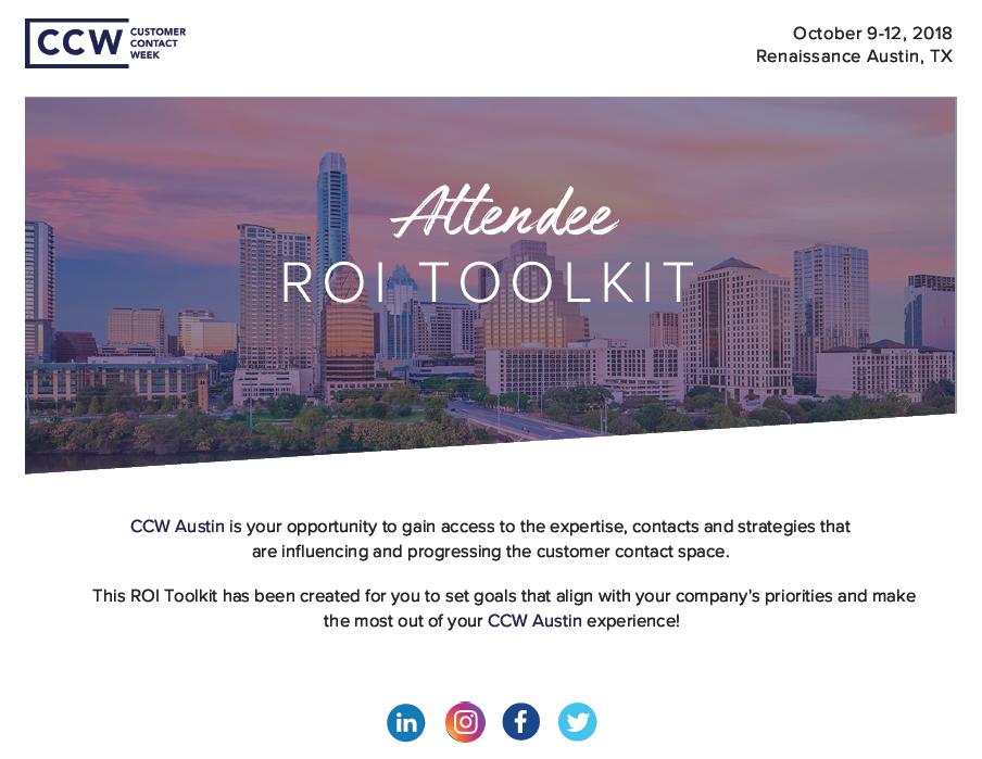 CCW Austin ROI Toolkit