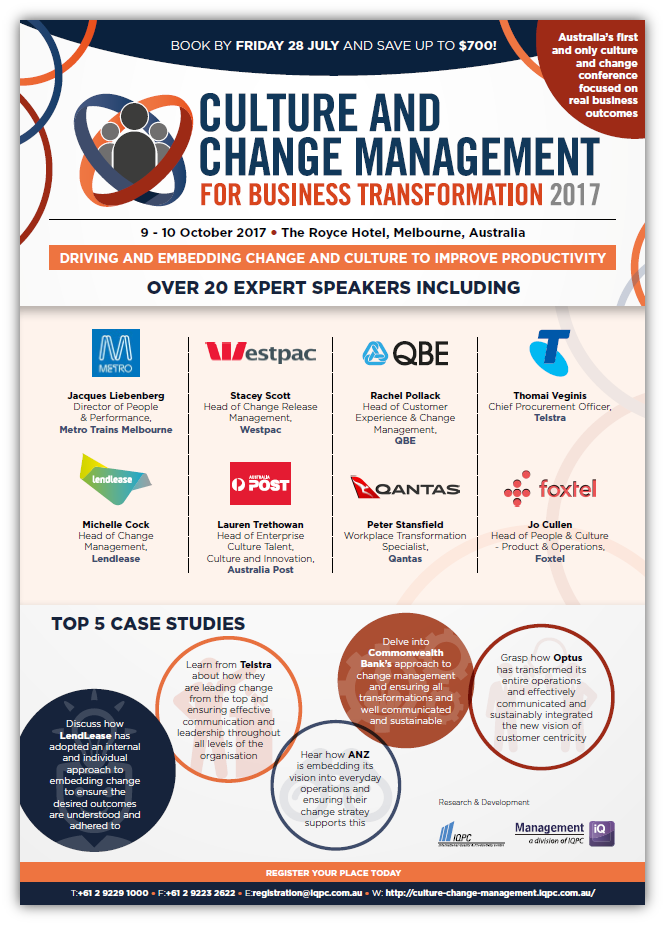 Culture and Change Management for Business Transformation Agenda